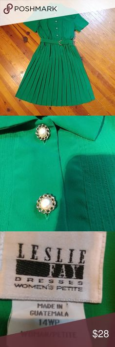 dee8f8f24ae Selling this Plus Size Leslie Fay Kelly Green Dress on Poshmark! My  username is