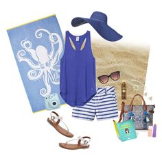 Lazy Beach Day by asilosky on Polyvore featuring polyvore, fashion, style, SONOMA Goods for Life, T-shirt & Jeans, Oasis, MANGO, Maybelline, Sun Bum, Old Navy and clothing