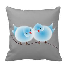 Such a cute picture of two whimsical blue love birds, so sweet.