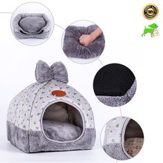 Removable Pet Hamster Slide Stairs Small Animals Villa Bedding Cage House Nest