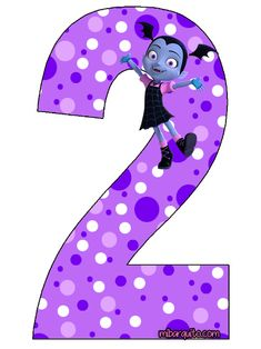 Numeros de Vampirina para descargar e imprimir | Mi Barquito 2 Birthday, Birthday Pinata, Girl Birthday Decorations, Birthday Party Themes, Baby Shawer, Alphabet, Diy Clothes, Disney, Bebe