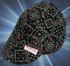 40e4784d20a Bandana Black Red Welding Cap Custom Made Hats