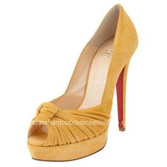 Christian Louboutin Greissimo Pumps Suede Peach [Suede Christian Louboutin] - $150.00 : Cheap Christian Louboutin | Sell Christian Louboutin Online