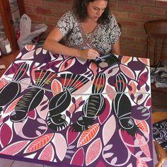 Helen Ansell This painting now hangs on my wall :) Pattern Art, Print Patterns, Pattern Design, Iconic Australia, Australian Art, Abstract Styles, Wall Art, Artwork, Prints