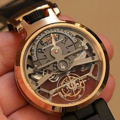 Bovet Pininfarina tourbillon Ottantatre watch with jumping hour and retrograde minutes.