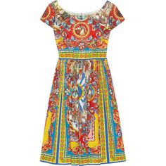 Dolce & Gabbana Carretto printed cotton-poplin dress