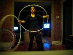 Hula Hoop Tutorial: Double Hoop Hand Switch - YouTube -- awesome