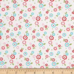Alpine Flannel Snail Floral Pink from @fabricdotcom  Designed for Alpine Fabrics, this double-napped (brushed on both sides) flannel is perfect for quilting, apparel and home decor accents. Colors include red, blue, green, white and shades of pink.