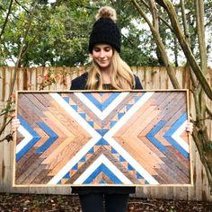 Wood Wall Art ~ Wood Art ~ Wooden Wall Art ~ Boho Home Decor ~ Geometric Wood Art