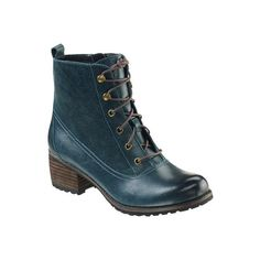 Aetrex Women's Skyler Ankle Lace Up Boot, Size: Blue Short Heel Boots, Lace Up Ankle Boots, Heeled Boots, Ankle Booties, Shoes Heels Wedges, Aetrex Shoes, Sandals, Flats, How To Wear Heels
