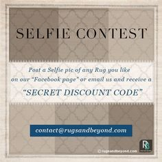 Its Selfie-o-Clock! Post a selfie with any #Rug of your choice & receive a Discount coupon in your inbox!  #Mychoice #Go4choice #interiordesign #homedecor