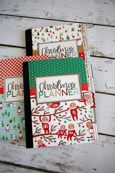 Make these adorable DIY Christmas Planners in just an hour or two! Includes instructions and all the free printables. Grab your friends and plan a fun craft night! Diy Christmas Planner, Christmas Journal, Holiday Planner, Christmas Planning, Christmas Printables, Handmade Christmas Gifts, Holiday Crafts, Holiday Fun, Handmade Gifts