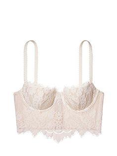 41dcd068a1 Victorias Secret DREAM ANGELS Boho White Long line demi bra 36 D -- Amazon  most
