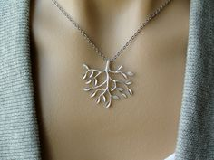 Sale - Silver Tree Necklace - gift, birthday, anniversary, wife, sister, daughter, friend, bridesmaid