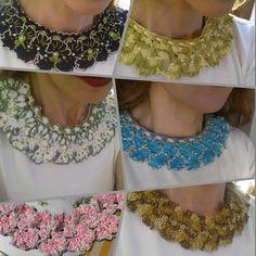 Colletto - gioello staccabile , per decorare qualsiasi maglietta, (alla Valentino style)