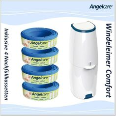 Angelcare Windeleimer Comfort+4er Nachfüllpack: Amazon.de: Baby