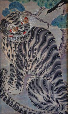 korean folk art - tiger