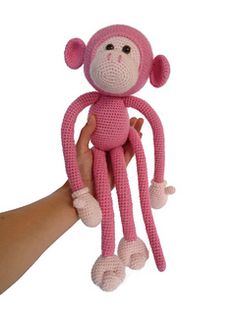 Mike is an adorable amigurumi monkey that will quickly make you fall in love with him. He loves long walks on the beach, but also likes to snuggle with you on the couch. Once he wraps his long long arms around you, he will never let go.