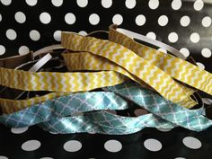 "DIY velvet sweaty bands and save $15 :).  Try 15.5"" for ribbons and 6.5"" for elastic"