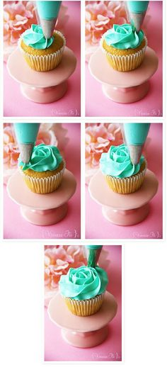 Rose swirl cupcake tutorial