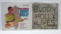 Buddy Holly Lives Sealed LP Lot The Great Buddy Holly Crickets 20 Golden Greats  #RockabillyPsychobilly