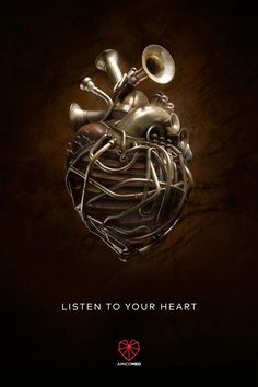 Listen to your heart | #ads #adv #marketing #creative #print #poster #advertising #campaign