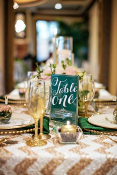 Champagne and Emerald Wedding Ideas from Sugar Branch Events