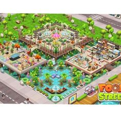 #FoodStreetGame Food Street Game, Clash Of Clans, Restaurant Design, Food Game, Games, Pictures, Beautiful, Ideas, Clash Of C