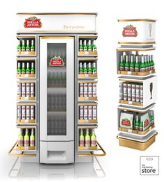 AMBEV - Stella Artois - end of aisle and free standing unit