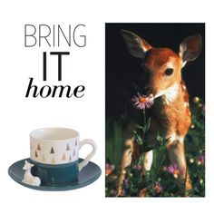 """Bring It Home: Triangle Deer Cup"" by polyvore-editorial ❤ liked on Polyvore featuring interior, interiors, interior design, home, home decor, interior decorating, Disaster Designs and bringithome"
