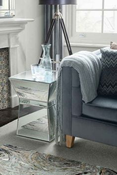 Michelle Mirrored Cube Coffee Table