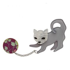 """""""Of course you are smitten with this here kitten. But are you the perfect match for our Kitty Cat Scratch? Year Of The Rabbit, Cat Pin, Fairy Princesses, Little Kittens, Cat Scratching, Resin Jewelry, Jewellery, Kitty, Hand Painted"""
