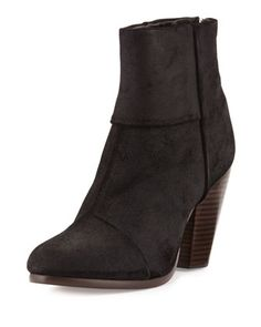 Newbury Leather Ankle Boot, Black by Rag