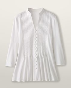 Woven embroidery top - [K13798] Colwater Creek