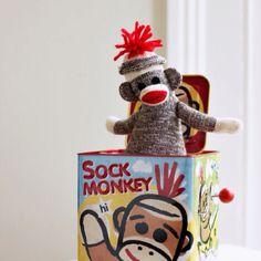 Wined up sock monkey