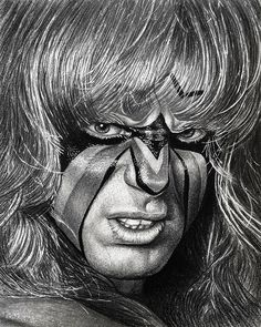 DeviantArt: More Collections Like The Ultimate Warrior by TheFireAngel Wrestling Posters, Best Wrestlers, Professional Wrestling, Wwe Superstars, Horror Movies, Cool Art, Awesome Art, Legends, Iron Gates