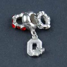Sterling Silver Jewelry #ohio state charm bead #ohio state pandora bead