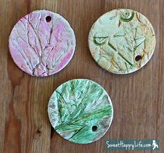 Preschool Garden Ornaments - Working with Modeling Clay