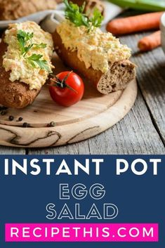 Take the stress out of making your egg salad sandwiches and egg mayonnaise with a super easy no peel and no shell instant pot egg salad. Healthy Lunches For Kids, Healthy Meal Prep, Healthy Recipes, Delicious Recipes, Healthy Food, Best Pressure Cooker Recipes, Instant Pot Pressure Cooker, Slow Cooker, Egg Recipes