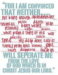 NOTHING can separate you from His love for you!