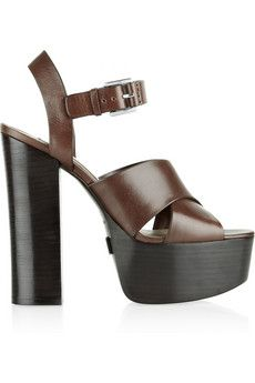 Michael Kors Crista leather platform sandals | NET-A-PORTER