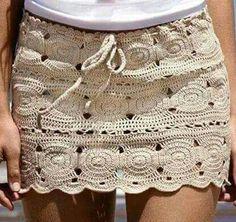 Falda,crochet.