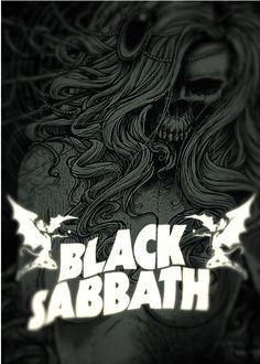 ☮ American Hippie Rock Metal Music Poster ~ Black Sabbath