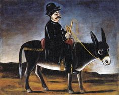 Title:ロバにまたがる町の人  Town-Dweller on a Donkey  Горожанин на осле  Artist:ニコ・ピロスマニ  Niko Pirosmani  Нико Пиросмани  ნიკო ფიროსმანი  Date:1910年代