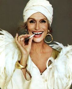 """We have to be able to grow up. Our wrinkles are our medals of the passage of life. They are what we have been through and who we want to be. I don't think I will ever cut my face, because once I cut it, I'll never know where I've been."" -Lauren Hutton   [More like her at https://www.pinterest.com/yrauntruth/grow-up-age-croning/ ]"