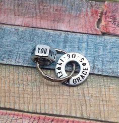 Best valentine gift for him, Father's Day Gift, Dad Washer and Nuts Keychain, Husband Gift, New Dad Gift, Personalized, Key Ring, CUSTOM by ThatKindaGirl on Etsy