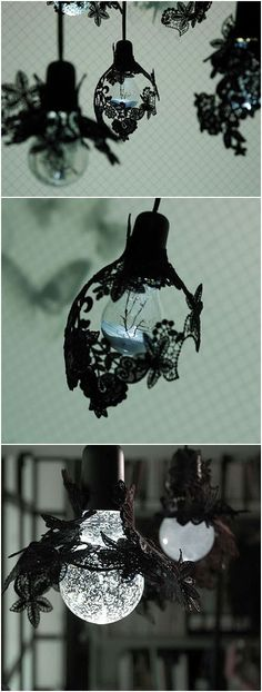 """By designer Eleanor-Jayne Browne designed lace chandelier.  Use as a decorative lace, while the integration of the growth morphology of the species for design inspiration.  Tells the lace chandelier design culture: nature and technology coexist in the story of these two extremes.  """""""
