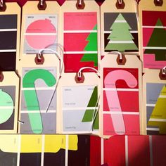 Holiday Cards with Paint Color Swatches