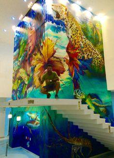 "Mural ""Universo Quintana Roo"" Acrílico sobre pared Hospital general de Cancún  Artista: Pavel LLompart"