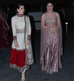 Kapoor Sisters Karisma & Kareena at Manish Malhotra's niece Riddhi's pre Wedding Sangeet. Dec, 14